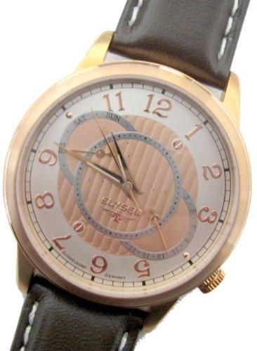Elysee 67011 - Reloj analógico de cuarzo para hombre con correa de piel, color marrón