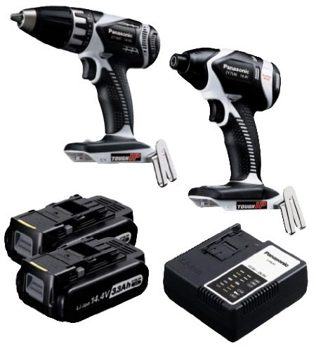 Panasonic EYC199LR Cordless, Battery Powered, Rechargeable 14.4V Drill Driver / Impact Driver Combo Kit