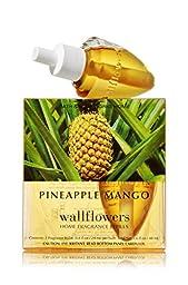 Bath and Body Works Pineapple Mango Wallflowers 2-Pack Refills Home Fragrance Bulbs (1.6 fl oz. Total)