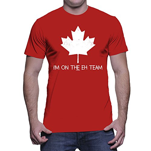 Mens I'm On The Eh Team - Canada, Canadian T-shirt (2XL, RED) (Shirt Canada compare prices)