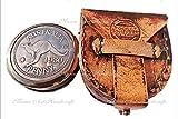 Australian Kompass Messing mit Schöne Leder Schutzhülle. c-3010