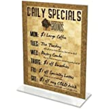 deflect-o 69101 - Stand-Up Double-Sided Sign Holder, Plastic, 5 x 7, Clear-DEF69101