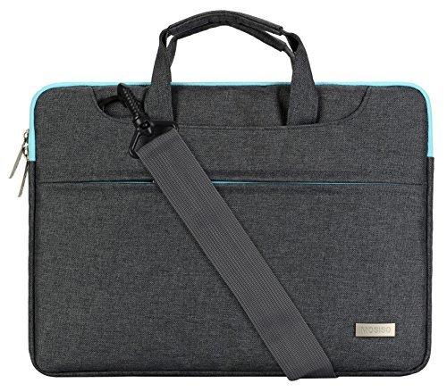 Mosiso ラップトップ ショルダーバッグ/ブリーフケース ポリエステル 13-13.3インチ iPad Pro 12.9 /ノートパソコン/MacBook Air&Pro スーツケースためのバックベルト付き (グレー)