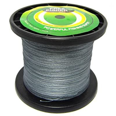 1000m Fishing Pe Super Braid Braided Line Grey by FreeFisher