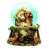 Spieluhrenwelt 49027 - Juguete de bola de nieve con portal de Belén