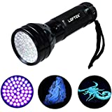 LOFTEK® 51 UV 395 nM Ultraviolet LED flashlight Blacklight Stain & Urine Detector Torch Spot Scorpions, Pet Urine, Bed Bugs Minerals Leaks- 30 Day Money Back Guarantee
