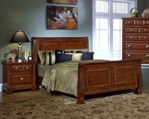 sunset sleigh bedroom set cordovan by