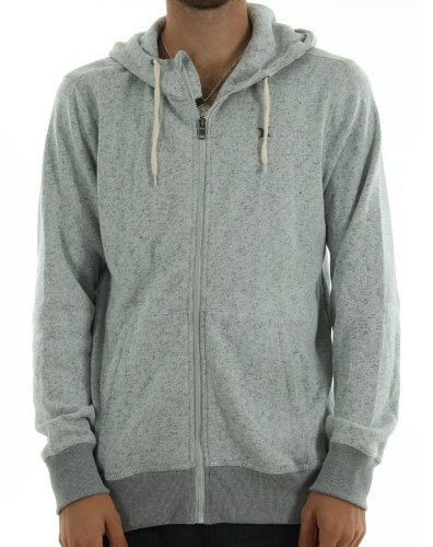 Hurley Men's Retreat Zip Hoodie - Heather Ash Grey (XL)