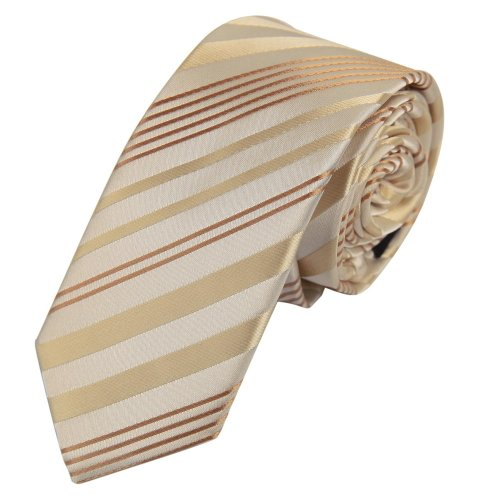 Ps1144 Christmas Day Presents Idea Beige Thank You Skinny Tie Matching Gift Box Set Stripes Slim Tie For Men By Epoint