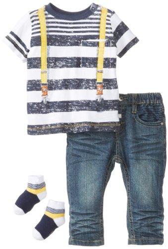 Petit Lem Baby-Boys Newborn Mr. Hipster Baby Pant Set, Navy Stripe, 3 Months