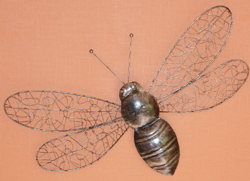 Wire Bee Wall Art for the Conservatory or Garden