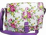 Womens Flowery Envy Handbag colour Lilac style 8031