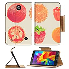 buy Msd Premium Samsung Galaxy Tab 4 7.0 Inch Flip Pu Leather Wallet Case Vintage Retro Looking Food Collage Set Of Many Vegetarian Items Isolated Over White Image Id 27182797