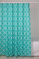 EZ Life Premium Shower Curtain with Fancy Rings - Nylon - Turquoise