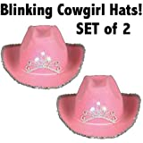 Pink Blinking Cowgirl Hat (set of 2) - Child's