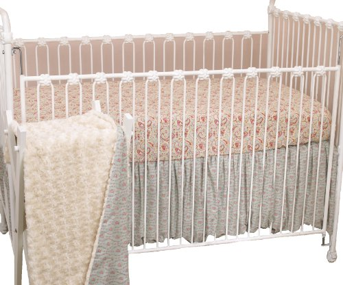 Cotton Tale Designs 3 Piece Crib Bedding Set, Tea Party