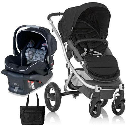 Britax Affinity Travel System With Bag Black Silver