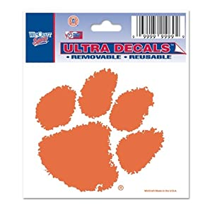 Buy NCAA Clemson Tigers 3'' x 4'' Ultra Decal Cling by WinCraft