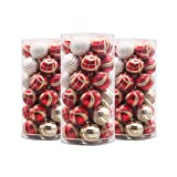 Valery Madelyn 30 Set Luxury Red and Gold Shatterproof Christmas Ball Ornaments,60mm/2.36inch,30 Hooks Included