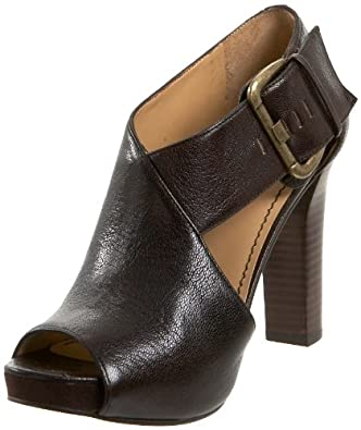 Nine West Women's Mega Sandal,Dark Brown Leather,6.5 M US