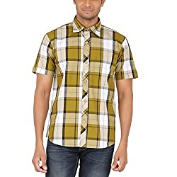 ALLTIMES Men's Green Color Shirts