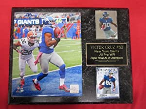 Victor Cruz New York Giants 2 Card Collector Plaque w 8x10 Photo by J & C Baseball Clubhouse