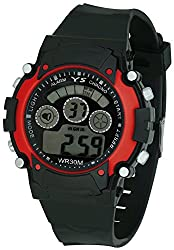 Pappi Boss Sports Watch Collections - Digital Black-Red Dial Sports Watch for Boys, Men & Kids