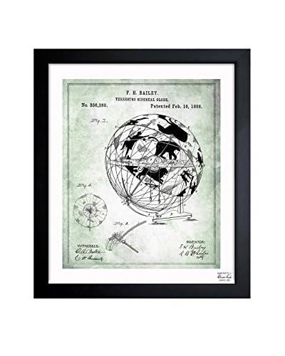 Oliver Gal Terrestro Sidereal Globe 1886 Framed Art