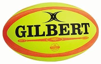 Buy Gilbert Omega Match Rugby Ball (Fluoro Orange) by Gilbert