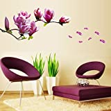 3D NEW!Magnolia bloom Joy Photo Wall Sticker Wall Decal Poster Photo Picture Frame Base Art DIY Home Decor Make home more warm
