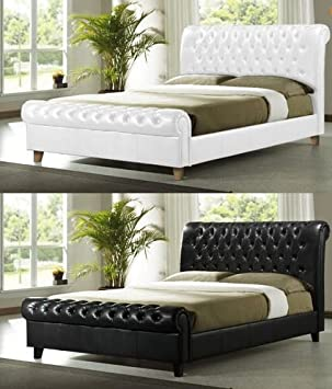 Brand New Chesterfield Diamante Black Kingsize Sleigh Bed Frame