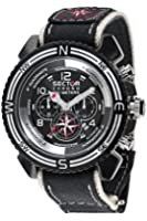 Sector Centurion Men's Watch Chronograph with Black Dial and Black Strap - R3271603125