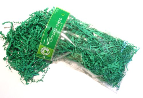 Jillson Roberts Recycled Crinkle Shred, Green, 6 Count (CS13)