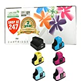 Shop At 247 ® Compatible Ink Cartridge Replacement for HP 02 (1 Black, 1 Cyan, 1 Yellow, 1 Magenta, 1 Light Cyan, 1 Light Magenta, 6-Pack)