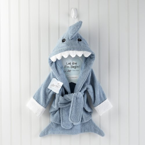 Hooded Spa Blue Terry Shark Robe Hoo s Clothing Boys