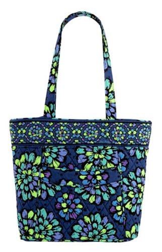 Vera Bradley Three-O Tote in Indigo Pop