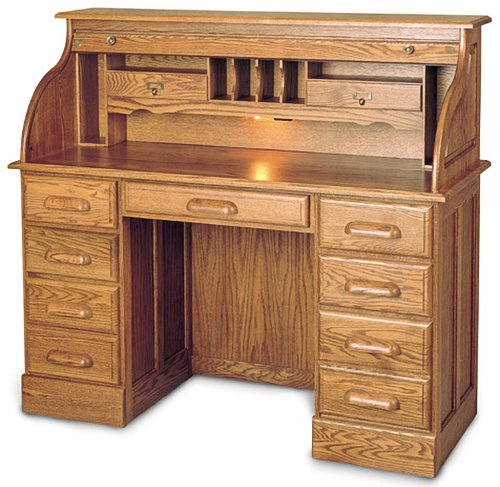 Offer Cheap Solid Wood 7 Drawer Roll Top Desk Fja144 Sale