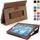 Snugg ™ - �tui Pour iPad 3 & 4 - Smart Case Avec Support Pied Et Une Garantie � Vie (En Cuir Marron) Pour Apple iPad 3 et 4
