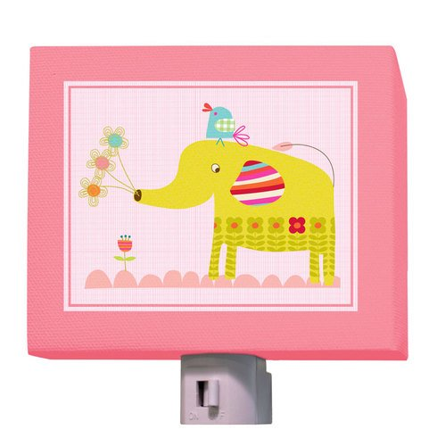 "Oopsy Daisy Elephants Bouquet Night Light, Pink, 5"" X 4"""