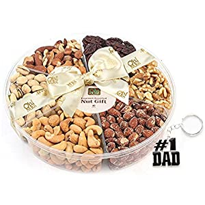 Happy Father Day Oh! Nuts Freshly Roasted Nut Gift Tray 6-Section 2 LB GIFT TRAY #1 dad