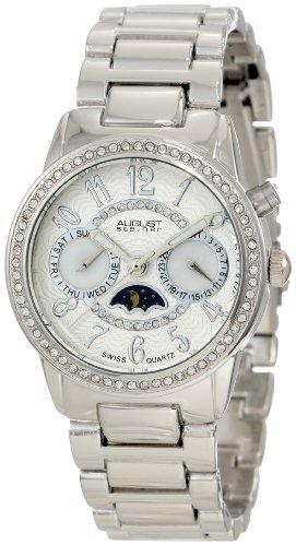 August Steiner Women's ASA838SS Swiss Quartz Multifunction Interchangeable Bezel Watch