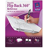 Avery Flip Back 360 Degree Binder with 1 Inch Ring, White, 1 Binder (17580)