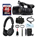 Panasonic AG-AC160APJ HD Camcorder + Sony MDR-NC200D Digital Noise-Canceling Headphones + Case + 32GB (10) + Filter Kit