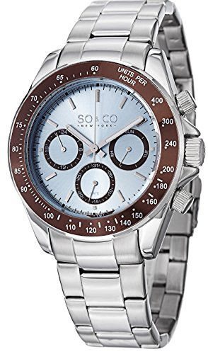 So&Co New York Men'S 5010B.2 Monticello Analog Display Quartz Silver Watch