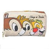 【 ディズニー 公式 】 ポーチ キャンバス チップ & デール & クラリス  ( Disney メイク バッグ グッズ ) 正規品