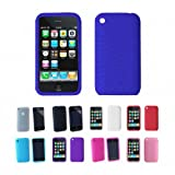 Apple iPhone 3G 3Gs 8GB 16GB 32GB Textured Silicone Skin Case Cover + Free  ....