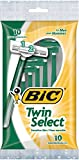 BIC Twin Select Twin Blade Shaver, Men, 10-Count (Packs of 12)