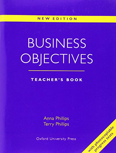 Business Objectives New Edition: Business Objectives: Teacher's Book New Edition