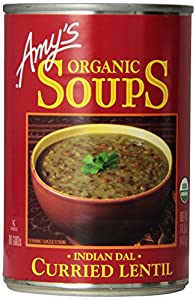 Amy's Organic Soups, Curried Lentil (Indian Dal), 14.5 Ounce (Pack of 12)