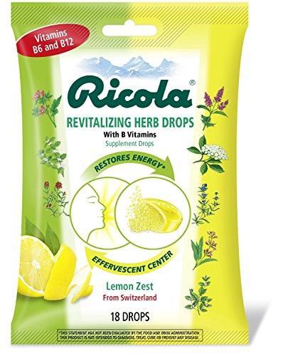 Ricola Revitalizing Herb Drops, 18 Drops Pack of 12